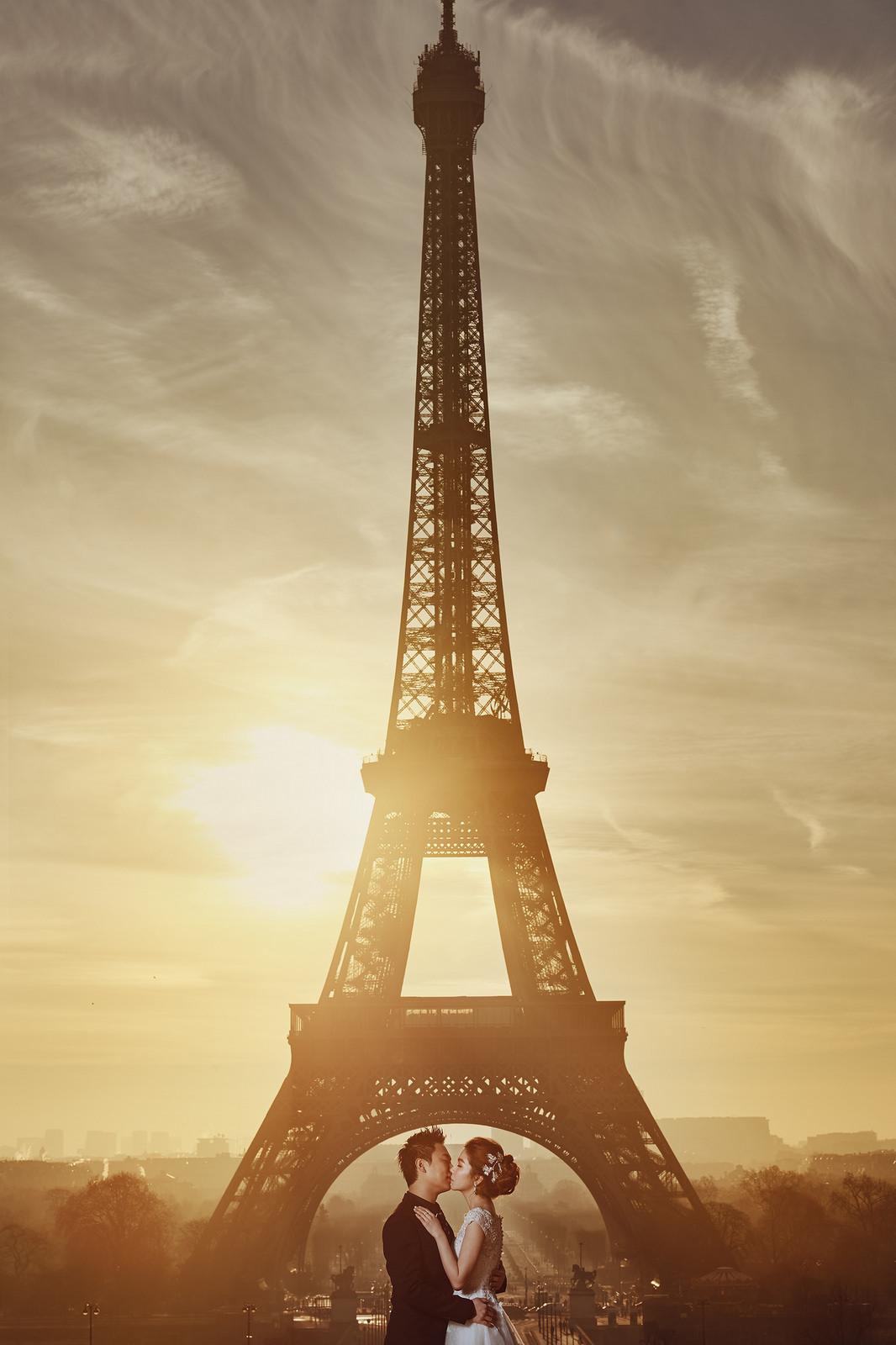 巴黎婚紗, 艾菲爾鐵塔, 海外婚紗, Donfer Photography, 東法, 藝術婚紗, Profoto, Paris