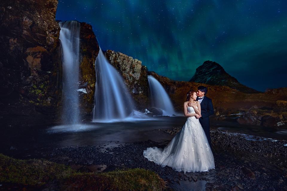 冰島婚紗, 草帽山, 教堂山, Kirkjufellsfoss, Pre-Wedding, 婚攝東法, Donfer, 藝術婚紗, 婚紗影像